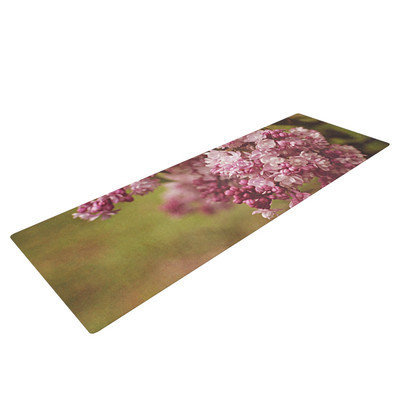 Kess Inhouse Lilacs by Angie Turner Flower Yoga Mat