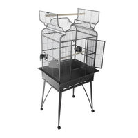 A & E Cage Co Large Victorian Dome Top Bird Cage Color: Stainless Steel