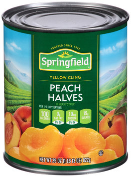 Springfield® Yellow Cling Peach Halves in Heavy Syrup 29 oz. Can