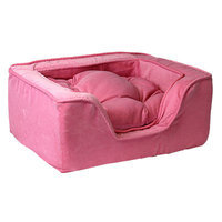 O'donnell Industries Odonnell Industries 21295 Luxury Medium Square Dog Bed - Pink-Pink