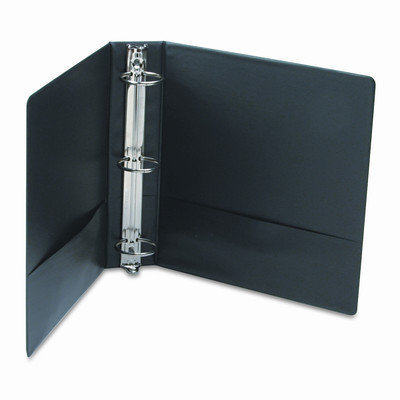 Universal Office Products 34401 Suede Finish Vinyl Round Ring Binder 2 Capacity Black