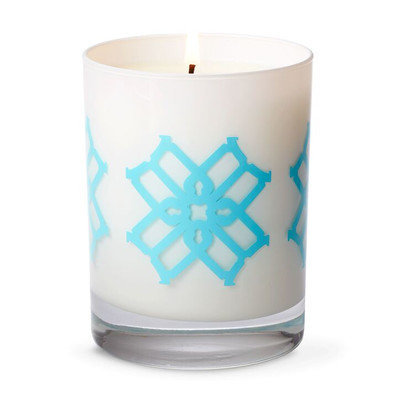 B By Brandie Minnie's Shades of Gold Designer Candle Color: Turquoise