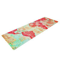 Kess Inhouse Oh the Places We'll Go by Alison Coxon World Map Yoga Mat