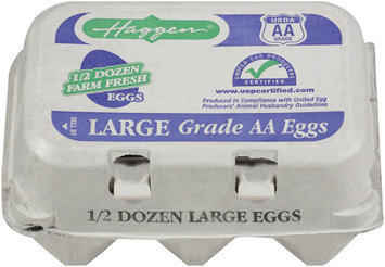 Haggen Large Farm Fresh Grade AA Eggs 6 Ct Carton