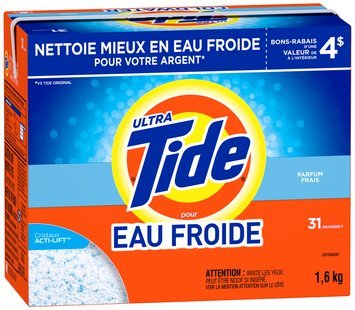 Tide Ultra for Coldwater Fresh Scent Powder Laundry Detergent 1.6kg Box