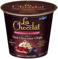 La Yogurt® La Chocolat™ Pomegranate Blueberry with Dark Chocolate Chips Probiotic Lowfat Yogurt 5.3 oz. Cup