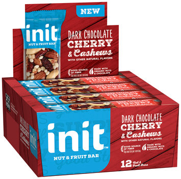Init™ Dark Chocolate Cherry & Cashews Nut & Fruit Bars 12 ct Box