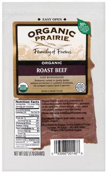 Organic Prairie Organic Slices Roast Beef 6 Oz Peg