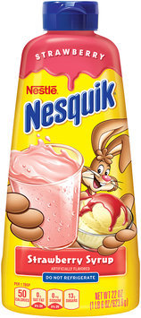 Nestlé NESQUIK Strawberry Flavored Syrup 22 oz. Plastic Bottle