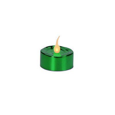 Penndistributing Flameless Tea Light Candle Color: Green