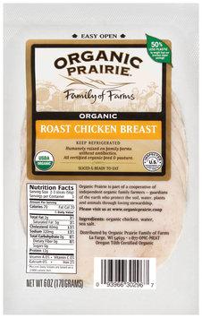 Organic Prairie Organic Slices Roast Chicken Breast 6 Oz Peg