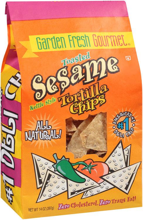 garden fresh gourmet® kettle style toasted sesame tortilla chips