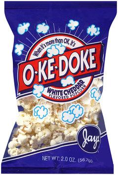jay's® o-ke-doke® white cheddar flavored popcorn
