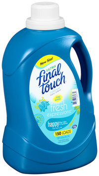 Final Touch® Fresh Expressions™ Happy Blue Lotus & Sunshine Ultra Concentrated Liquid Fabric Softener 150 Loads 128 fl. oz. Jug
