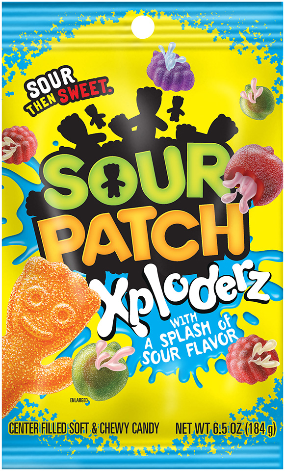 Sour Patch Xploderz Candy with a Splash of Sour Flavor