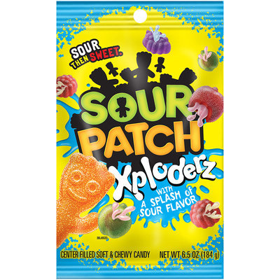 Sour Patch Xploderz Candy with a Splash of Sour Flavor