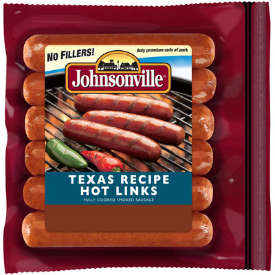 Johnsonville Texas Recipe Smoked Hot Links 14oz zip pkg (100927)