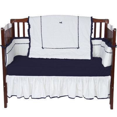 Baby Doll Bedding Unique 4 Piece Crib Bedding Set Color: Navy