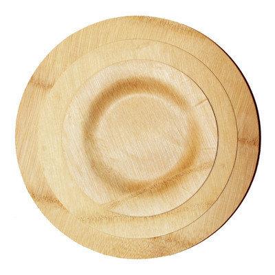 Restaurantware Bamboo Veneer Round Dinner Plate (100 Count)