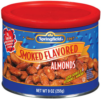 Springfield Almonds, Smoked Flavored Nuts 9 Oz Canister