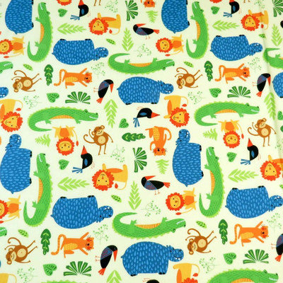 Stwd Jungle Animals Pack N Play Fitted Sheet