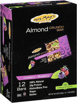 Mrs. May's® Cranberry-Blueberry Almond Crunch Bars 12-1.7 oz. Wrappers