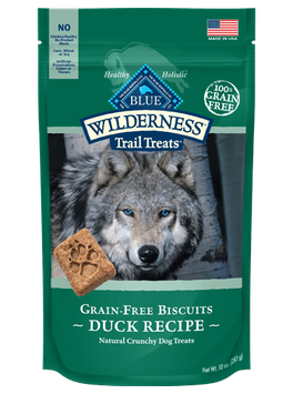 THE BLUE BUFFALO CO. BLUE™ Wilderness Trail Treats® Duck Biscuits Grain-Free Natural Crunchy Dog Biscuits