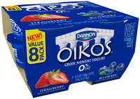 Dannon Oikos Greek Yogurt Strawberry/Blueberry