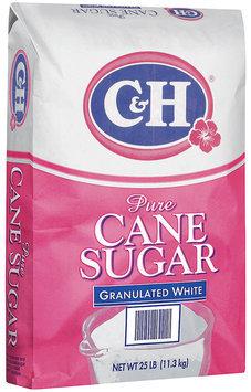 C&H® Pure Cane Granulated White Sugar 25 lb. Bag