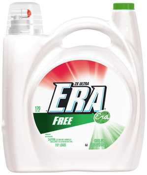 Era 2x Free High Efficiency Compatible Liquid Laundry Detergent 170 fl. oz. Bottle