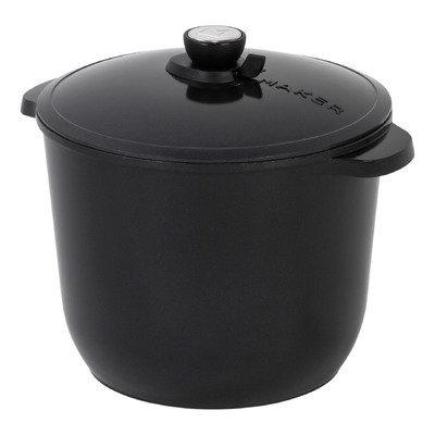 Maker Homeware SmartSteam 12 QT Classic Cookware Color: Black