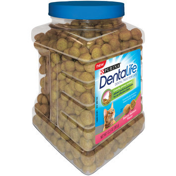 Purina DentaLife Savory Salmon Flavor Dental Treats for Cats 13.5 oz. Canister
