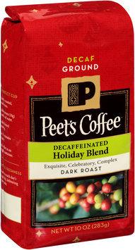 Peet's Coffee® Decaffeinated Holiday Blend Dark Roast Coffee Grounds 10 oz. Package