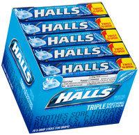 Halls® Mentho-Lyptus® Cough Suppressant/Oral Anesthetic Menthol Drops 20-9 Piece Packs