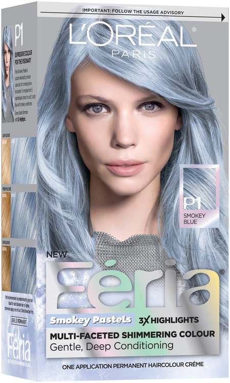 L\'Oréal® Paris Feria® Smokey Pastels P1 Smokey Blue Hair Color Reviews