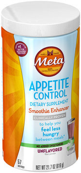 Smooth Meta Appetite Control Dietary Supplement, Smoothie Enhancer, Unflavored, 57 servings