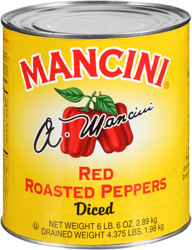 Mancini® Diced Red Roasted Peppers 102 oz. Can