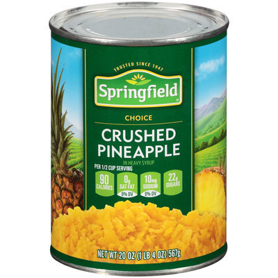 Springfield® Crushed Pineapple in Heavy Syrup 20 oz. Can