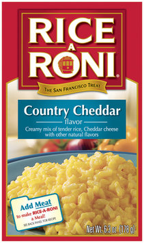 Rice-A-Roni Country Cheddar Rice Mix 6.3 Oz Box