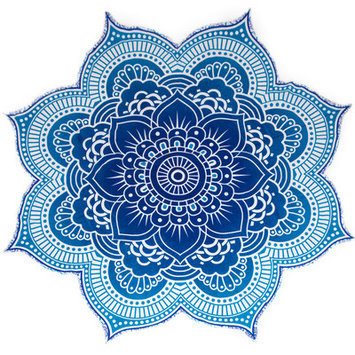 Bonita Beach Collection Mandala Tapestry Beach Blanket Color: Blue