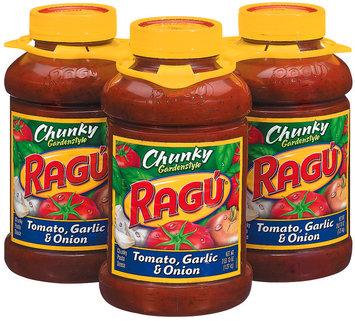 Ragu Chunky Gardenstyle Tomato Garlic & Onion 45 Oz Pasta Sauce 3 Pk Plastic Jars