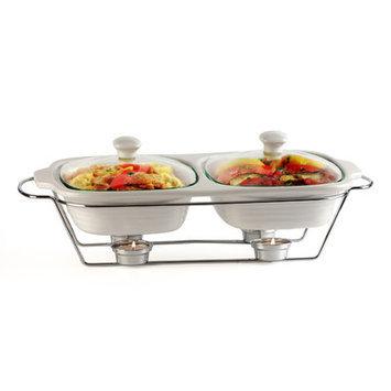 Circle Glass Buffet 2-qt. Oval Casserole