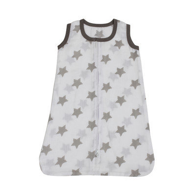 Bacati Stars Sleep Sack Color: Grey, Size: Newborn