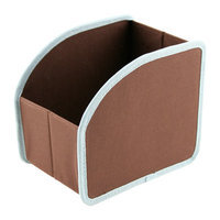 Neatnix SCSM-12 Stuff Cubby - Small - Brown with Light Blue