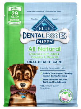 THE BLUE BUFFALO CO. BLUE™ Dental Bones™ Mini Size For Puppies