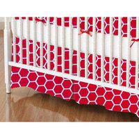 Stwd Honeycomb Crib Skirt Color: Red