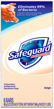 Safeguard Antibacterial Beige Personal Size Soap 6-3.2 oz. Bars