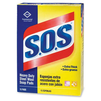 Sos 88320 - Soap Pad, Heavy-Duty, Wool, 15 Pads