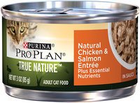Purina Pro Plan True Nature Adult Natural Chicken & Salmon Entree Cat Food in Sauce 3 oz. Pull-Top Can