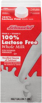 Schnucks® 100% Lactose Free Whole Milk 0.5 gal. Carton
